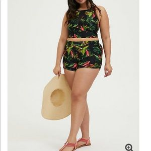 NWT torrid size 1 high top & dolphin shorts bikini